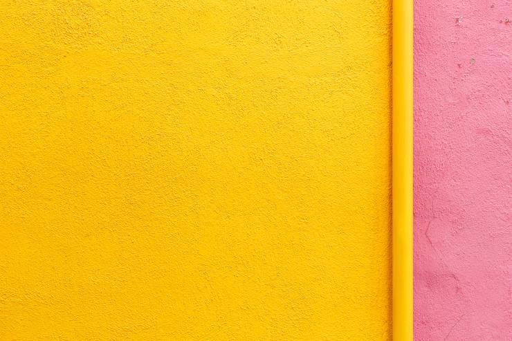 gelb rosa